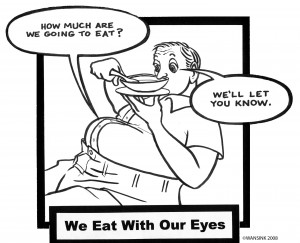 Cartoon we_eat_with_our_eyes